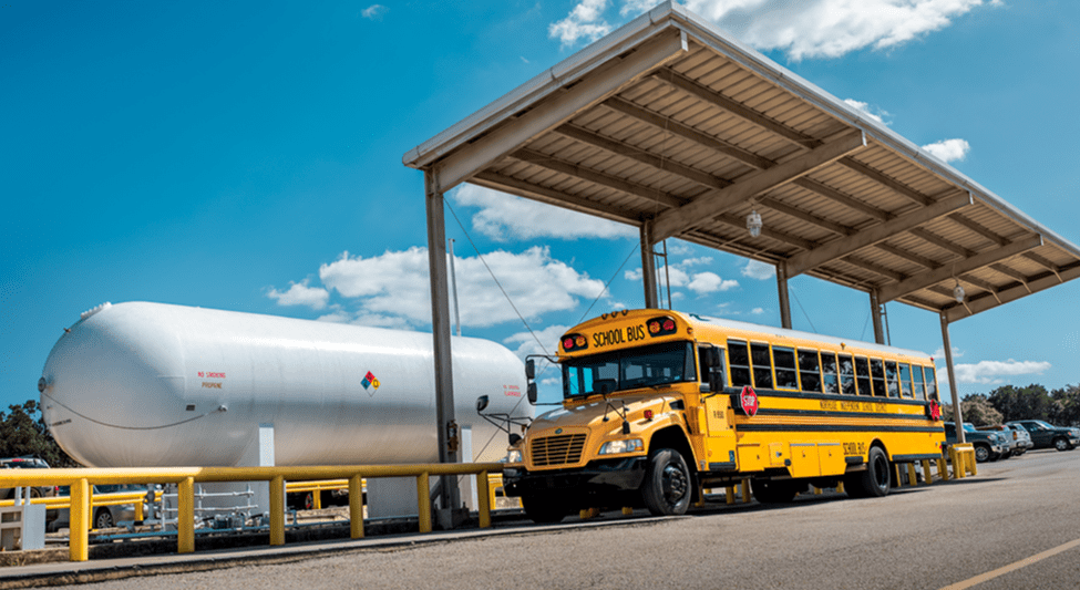 Michigan School Buses Run Green With Propane